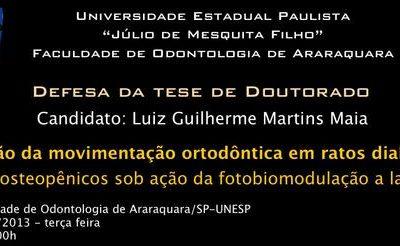 Dr Luiz Guilherme defende título de Doutor em ortodontia